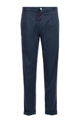 Темно-синие брюки с брелоком Marco Pescarolo 2512161573