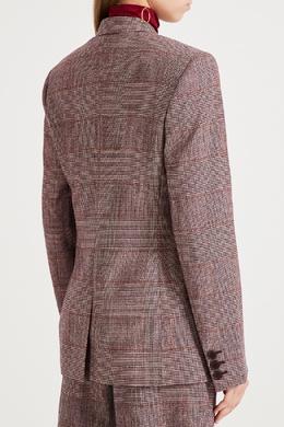 Бордовый шерстяной жакет Stella McCartney 193161080