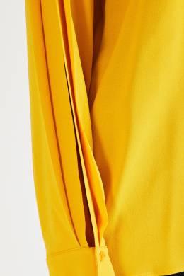 Желтая блуза из смесовой вискозы Stella McCartney 193161133