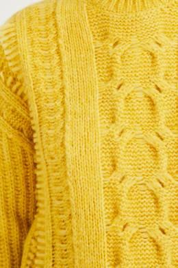 Желтый свитер рельефной вязки Stella McCartney 193161135
