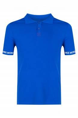 Синее поло с короткими рукавами Frankie Morello 1482161494