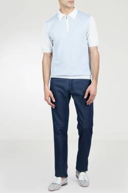 Темно-синие джинсы с платком Marco Pescarolo 2512161562