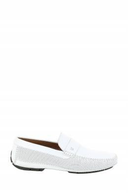 Белые кожаные мокасины Moreschi 2315161444