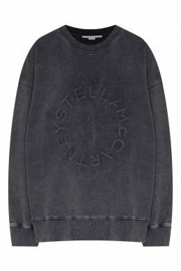 Серый хлопковый свитшот Stella McCartney 193161095