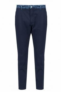 Темно-синие брюки с поясом из денима Frankie Morello 1482161482