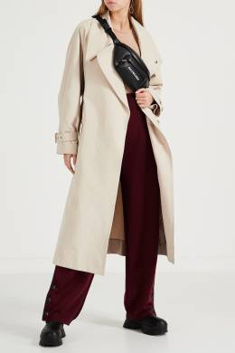 Бордовые трикотажные брюки Stella McCartney 193161131