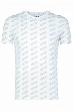 Белая футболка с логотипами бренда Ice Play 2998161527