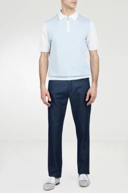 Синие однотонные джинсы Marco Pescarolo 2512161558