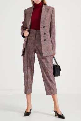 Бордовые брюки с защипами Stella McCartney 193161129