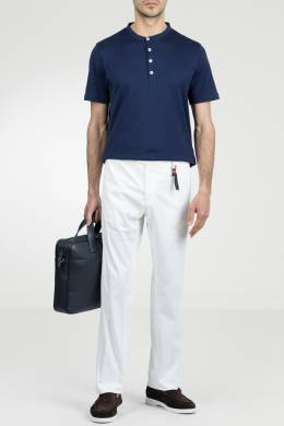 Белые брюки с брелоком Marco Pescarolo 2512161467