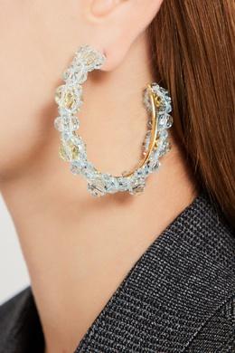 Серьги-кольца с голубыми бусинами Simone Rocha 250161278