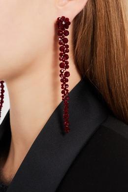 Каскадные серьги из красных бусин Simone Rocha 250161276