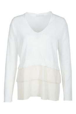 Белый джемпер с длинными рукавами Fabiana Filippi 2658160690