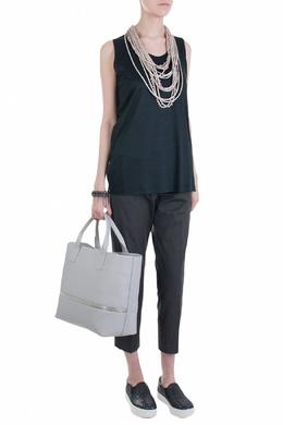 Черная блуза без рукавов Fabiana Filippi 2658160661