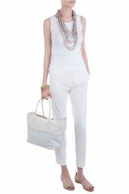 Белые женские брюки облегающего силуэта Fabiana Filippi 2658160655
