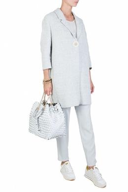 Белая блуза без рукавов Fabiana Filippi 2658160659
