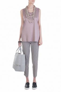 Жемчужно-сиреневая блуза без рукавов Fabiana Filippi 2658160660