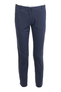 Синие зауженные брюки из хлопка Fabiana Filippi 2658160657