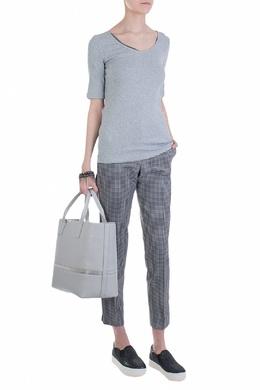 Светло-серый джемпер с короткими рукавами Fabiana Filippi 2658160651