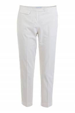 Бежевые укороченные брюки из хлопка Fabiana Filippi 2658160653