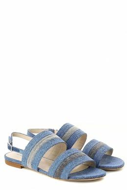 Джинсовые босоножки на плоской подошве Fabiana Filippi 2658160713