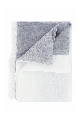 Длинный шарф в бело-серых тонах Fabiana Filippi 2658160715