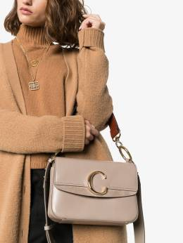 Chloé - grey C ring small leather shoulder bag SS999A33955389590000