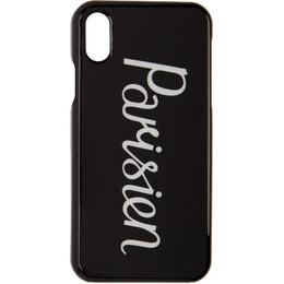 Maison Kitsune Black Parisien iPhone X Case 192389F03200201GB
