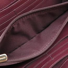 Coach Pink Leather Accordian Zip Around Wallet 238884