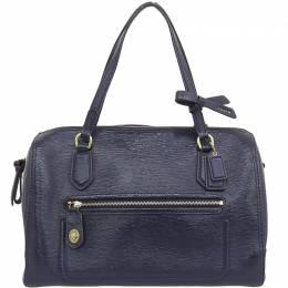 Coach Black Patent Leather Poppy Boston Bag 238851