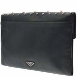 Prada Green Saffiano Leather Clutch Bag 238678