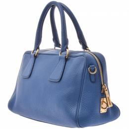 Prada Cobalt Saffiano Lux Leather Everyday Bag 238661