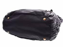 Prada Black Nylon Nappa Leather Bag 238660