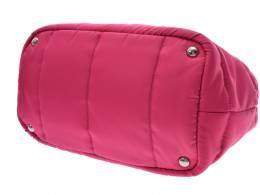 Prada Pink Tessuto Nylon Bomber Small Tote Bag 238665