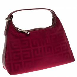 Givenchy Red Signature Logo Nylon Pochette Bag 238333