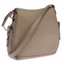 Givenchy Beige Leather Logo Flap Shoulder Bag 238488