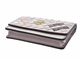 Bottega Veneta White Intrecciato Leather Card Case 238613