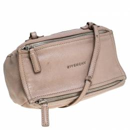 Givenchy Beige Leather Mini Pandora Sugar Crossbody Bag 238434