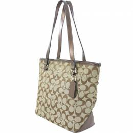 Coach Brown Signature Canvas and Leather Tote 238862