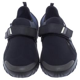 Prada Black/Blue Nylon Velcro Strap Sneakers Size 41 238121