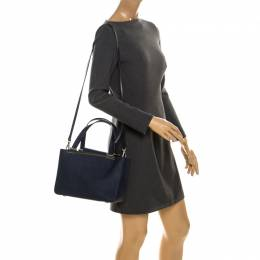MICHAEL Michael Kors Navy Blue Leather Lana Tote 234950