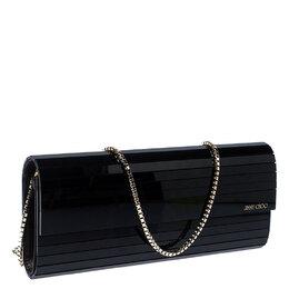 Jimmy Choo Black Acrylic Sweetie Chain Clutch 234402