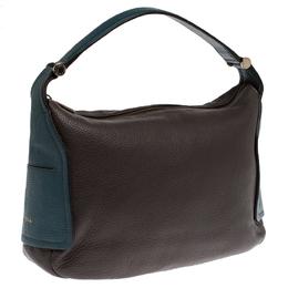 Furla Two Tone Leather Top Zip Hobo 234506