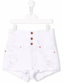 Diesel Kids - джинсовые шорты с прорезями 5BGKXB6W956396360000