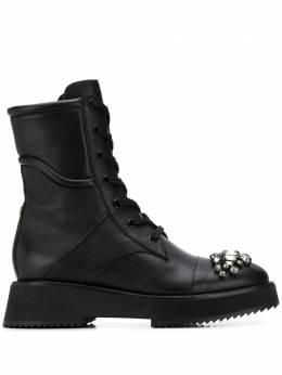 Jimmy Choo - ботинки Hadley с кристаллами на носке LEYFLATYAS9555856600