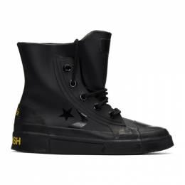 Ambush Black Converse Edition Leather High-Top Sneakers 192820M23600116GB