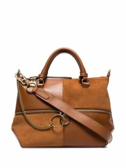 Chloé - Brown patchwork suede leather tote WSA35633955389360000