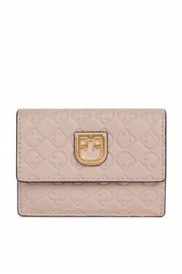 Розовый кошелек из кожи с тиснением Furla 1962161545