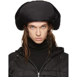 Prada Black Shearling Trapper Hat 192962M14000401GB