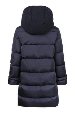 Синяя куртка с аппликацией на карманах Il Gufo 1205161918